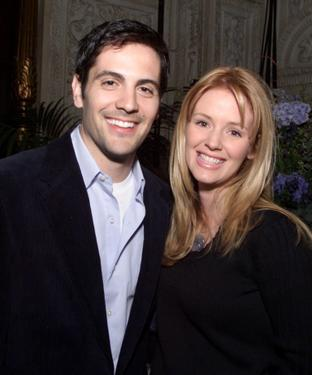 Michael Landes and his wife Wendy at a party of UPN&#39;s primetime line-up.